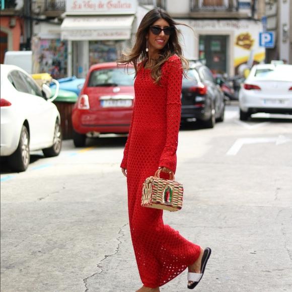 c31f871ba Zara Dresses | Gorgeous Nwt Red Open Knit Dress | Poshmark